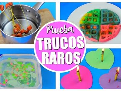 PROBANDO TRUCOS RAROS | DIYS | WEIRD DIYS TESTED!