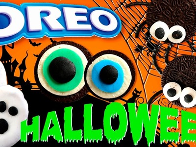 Recetas OREO para Halloween * Ideas de SNACKS con galletas oreo y PRETZELS