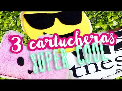 3 CARTUCHERAS SUPER COOL - EMOJI, KAWAII Y TRIANGULAR PARA HOMBRES Y MUJERES por Lau