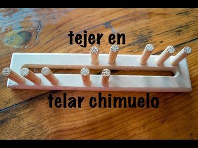 Aprende  a tejer en Telar chimuelo  ♥ ❀ ✿ ❁ ♥