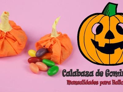 Calabazas con golosinas para Halloween | Adornos caseros para Halloween