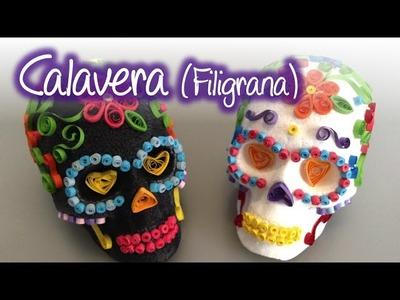 Calaveras decoradas con filigrana , Quilling skulls