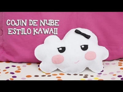Cojín de nube kawaii