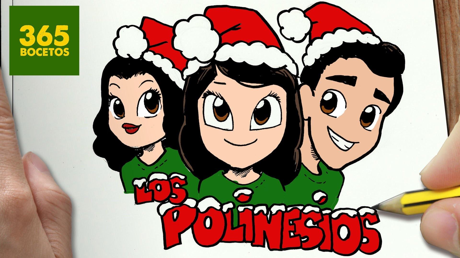 Como Dibujar A Los Polinesios Para Navidad Paso A Paso Dibujos