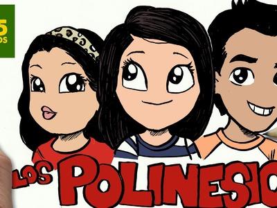 COMO DIBUJAR LOS POLINESIOS KAWAII PASO A PASO - Dibujos Kawaii faciles - draw Polinesios