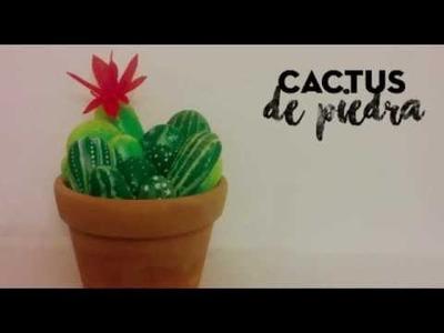 Como hacer un cactus de piedra - tutorial para decoración