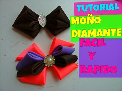 COMO HACER UN MOÑO DIAMANTE, DIAMONT BOW, HOW TO MAKE A BOW, VINCHA, TIARA, VALERINA