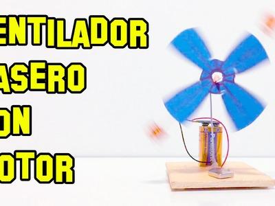Como Hacer un Ventilador Casero con Motor Eléctrico - Experimentos Caseros