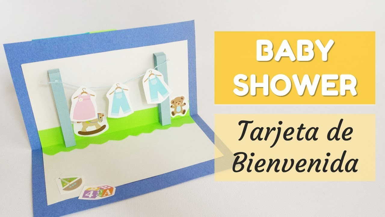 Cómo hacer una tarjeta para Baby Shower   facilisimo.com
