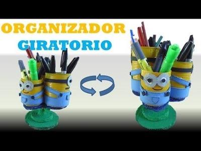 DIY :  Como hacer un organizador giratorio- Los Minions