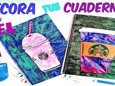 DIY - Decora tus cuadernos con GEL para el cabello - Starbucks - Regresa a clases -  Back to school