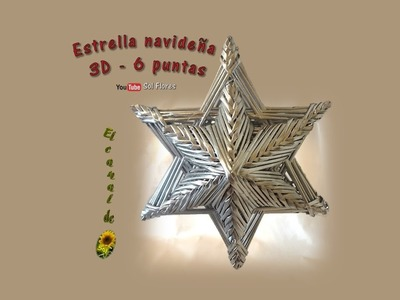 Estrella 3D de seis puntas con papel periódico - 3D Star six-pointed with newspaper