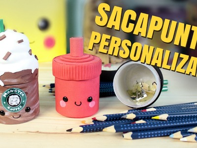 ¡Decora tus útiles escolares!: SACAPUNTAS DECORADOS o tajadores caseros (regreso a clases)