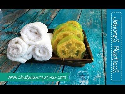 Jabón Rústico con Zacate Natural :: Chuladas Creativas