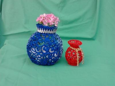 Jarron o  florero hecho con silicon