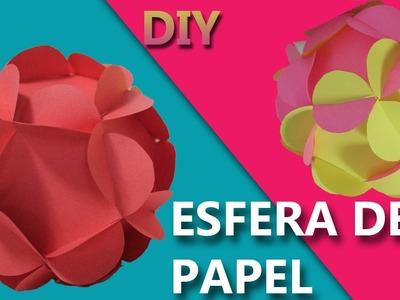 Manualidades con papel de colores | COMO HACER UNA ESFERA DE PAPEL