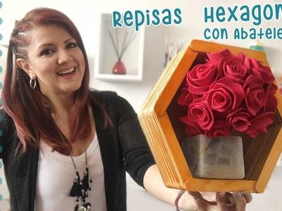 Marcos Hexagonales con Abatelenguas :: Chuladas Creativas