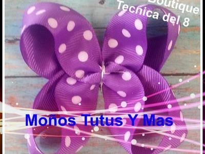 Moño Boutique METODO DEL 8 Paso a Paso BOUTIQUE HAIR BOW Tutorial DIY How To PAP