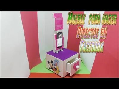 Mueble para Movíl o Celular, Manualidad hecha con Cartón