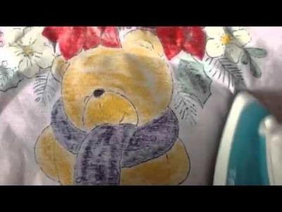 Pintura en tela terminado del oso # 7 con cony