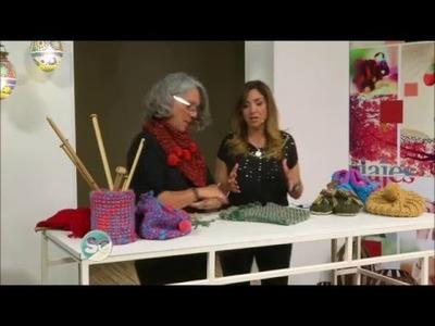 QUETA enseña a tejer CUELLOS EN TUNECINO  en Secretos Compartidos