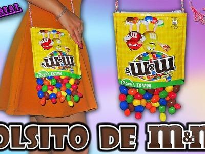 ♥ Tutorial: Bolsito reciclando bolsa de m&m's ♥