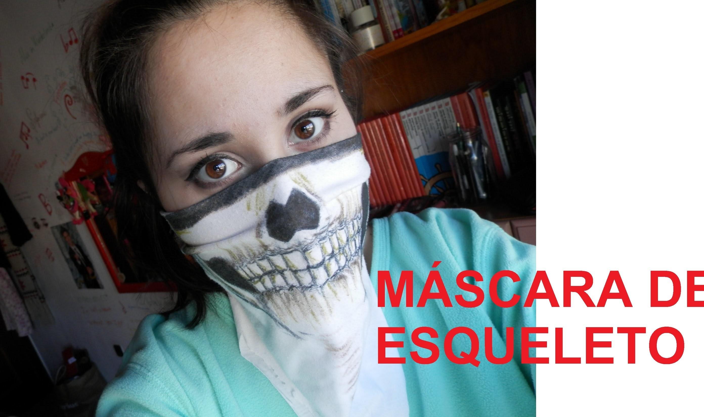 Tutorial- Máscara de esqueleto (Halloween)