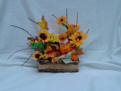 Base para arreglo floral  otoño