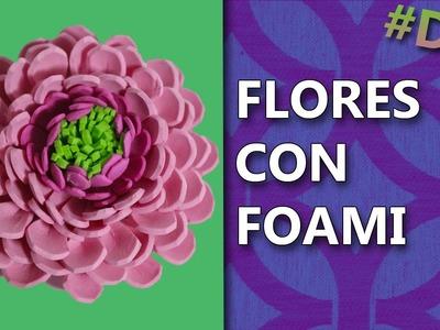 COMO HACER FLORES DE FOAMI | Manualidades flores