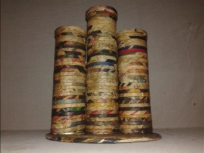 Como hacer un florero de revistas utilizando 3 tubos de metal  ☻☻ Ignacio ☻☻