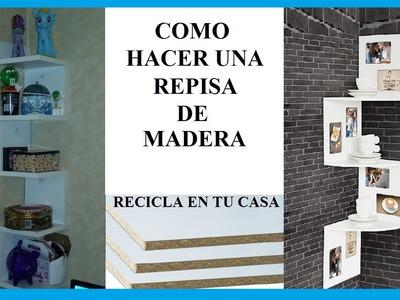 COMO HACER UNA REPISA DE MADERA | REPISA DE MADERA FLOTANTE