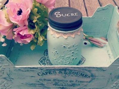 Cómo reciclar caja de fruta y tarro con gesso y chalk paint