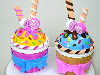 Cupcake en Foami (Cajita) │Espacio Creativo