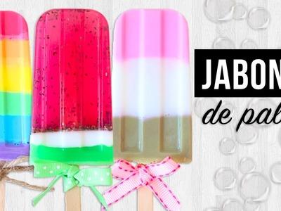 DIY- JABONES EN FORMA DE PALETA (RÁPIDOS Y FÁCILES)