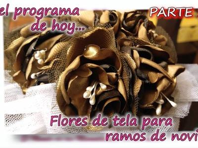 FLORES DE TELA PARA RAMOS DE NOVIA 2.3