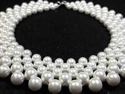 Hermoso y Elegante Collar de Perlas. .Clase #22!!!