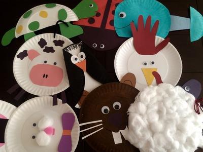 Manualidades con platos de carton para los niños