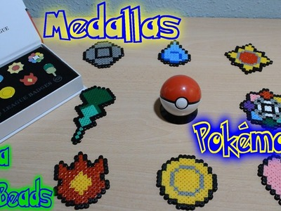 Medallas Pokémon de Kanto con Hama Beads [SpeedArt + Review]