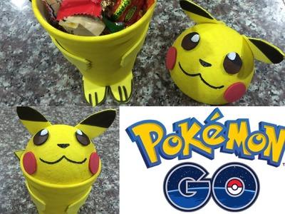 Pokemon go, picachu organizador, dulcero o cajita de regalo