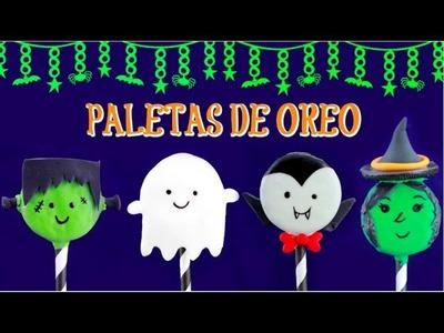 POSTRES PARA HALLOWEEN PALETAS DE OREO (9DIAS DE HALLOWEEN DÍA 2)