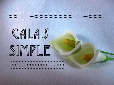 Como hacer una Cala Simple | How to make a simple Cala | Fondant | Pasta de Goma | Gumpaste
