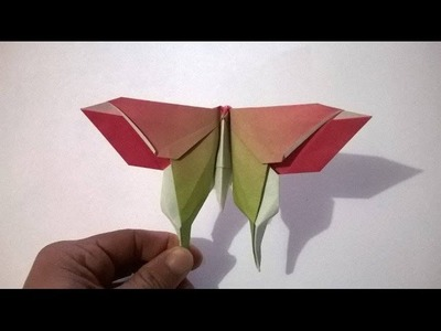 COMO HACER UNA MARIPOSA DE PAPEL  - How to make a paper butterfly
