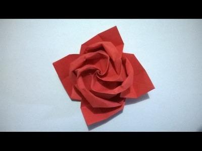 COMO HACER UNA ROSA DE PAPEL - Origami Paper Rose