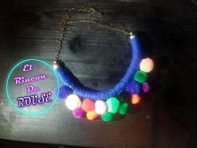 DIY Collar Con Bolitas De PELUCHE - El Rincon De ROUSE