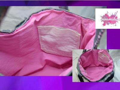 DIY. Como forrar un bolso. How to make a lining for handbag.
