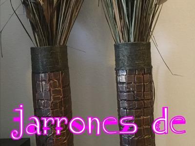 Diy: Manualidad de Jarrones con forma de silindro.