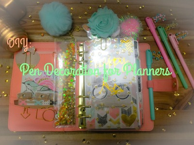 DIY: Pen Decorations for Planners | Decoracion de Boligrafos para Agendas