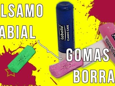 DIY ♥ Transforma tu Bálsamo labial en Goma de Borrar