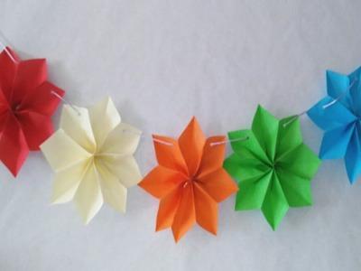 Guirnaldas de estrellas en 3D faciles  Manolidades DIY star garland paper