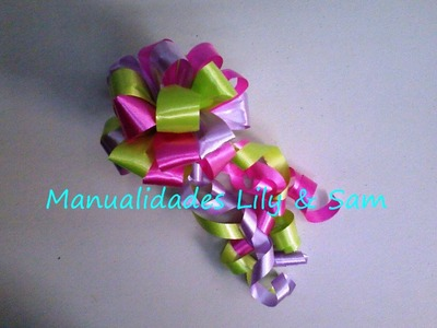 Moño para Regalo en cinta de Papel -  Gift bow on paper tape